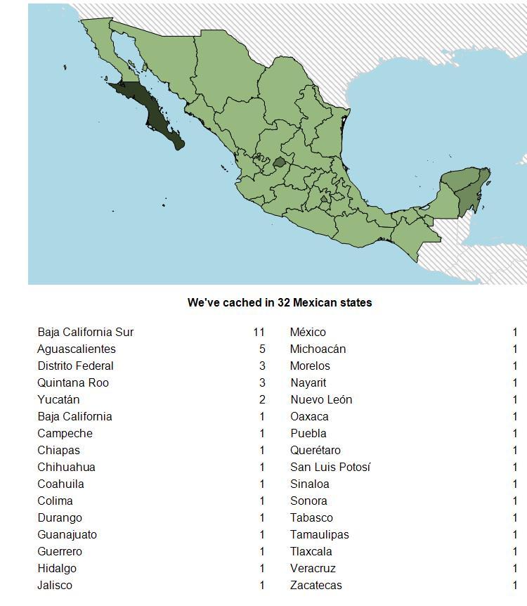 My Geocaching Profile Blog Bienvenido Mexico