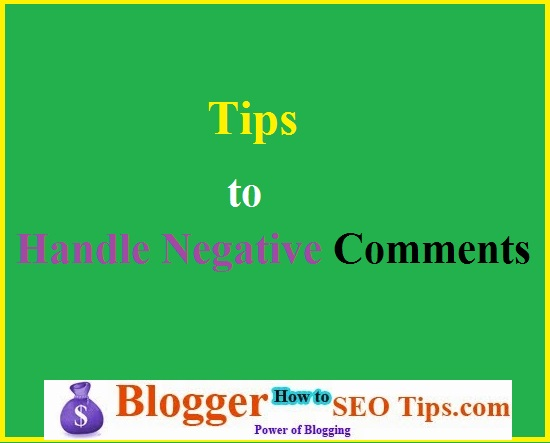 Handle Negative Comments, Commenting on Blog