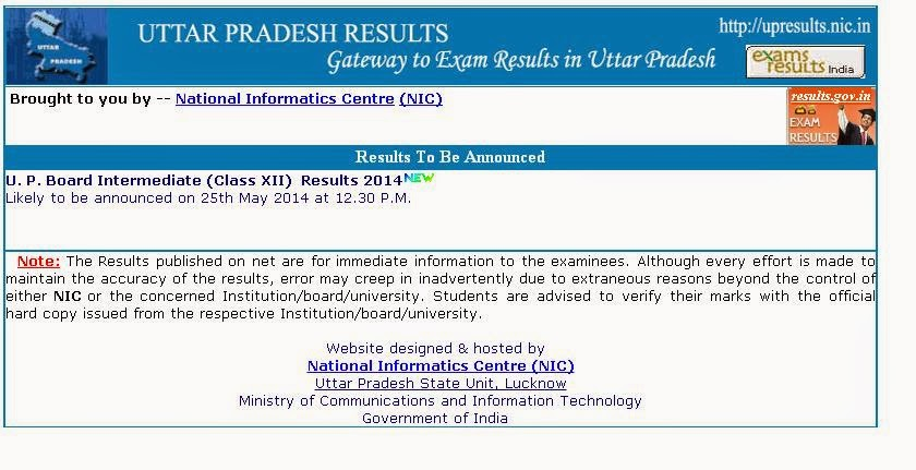 UP Board UPMSP 12th InterMediate Result 2016 Announced Today