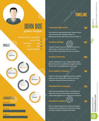contoh desain CV yang kreatif, unik, simpel dan cocok untuk melamar kerja, serta dapat untuk menjadi sebuah inspirasi.