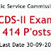 UPSC Recruitment for 414 Post's