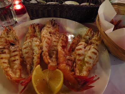 Les Bouchons, prawns