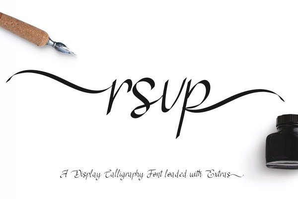 RSVP Display Calligraphy Font