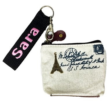 Small coin purse With name tag