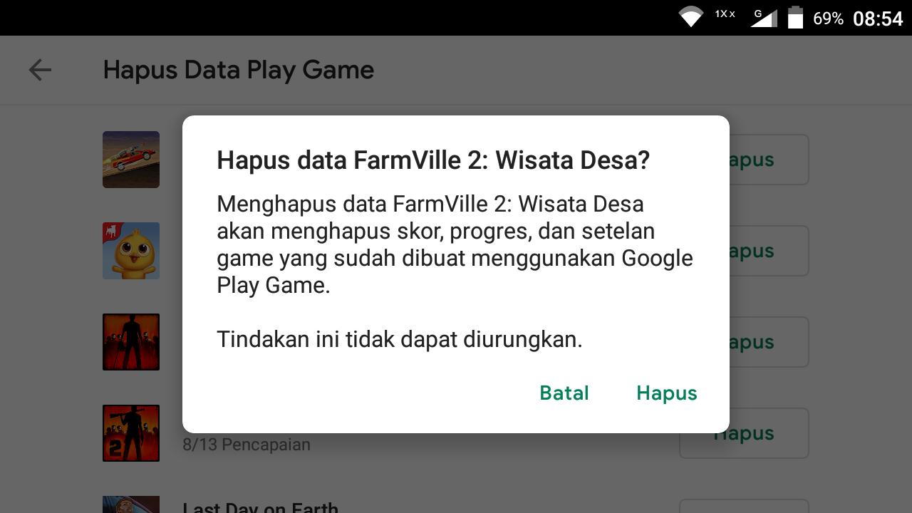 cara hapus akun pubg mobile google play
