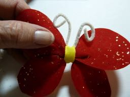 festive butterfly hair bow