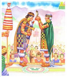 Coronación del inca del Cusco