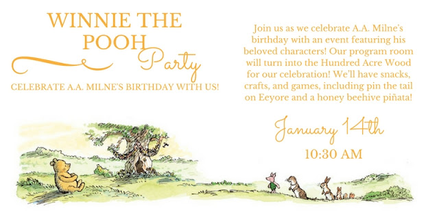 Winnie the Pooh Party - Franklin Library - Jan 14 - 10:30 AM