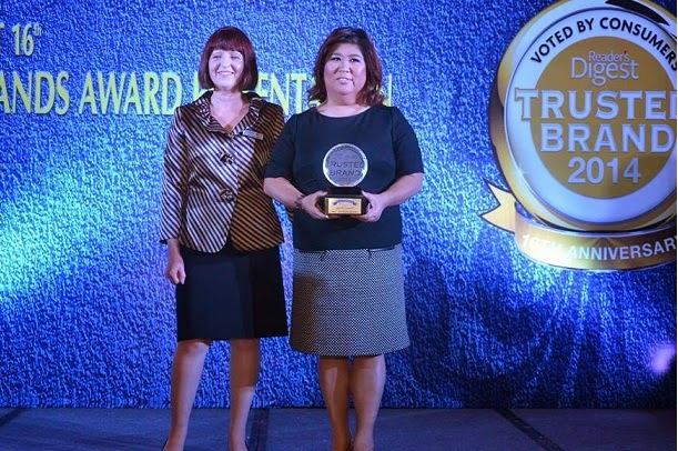 jessico Soho is Reader's Digest Philippines Most Trusted News Presenter for 2014