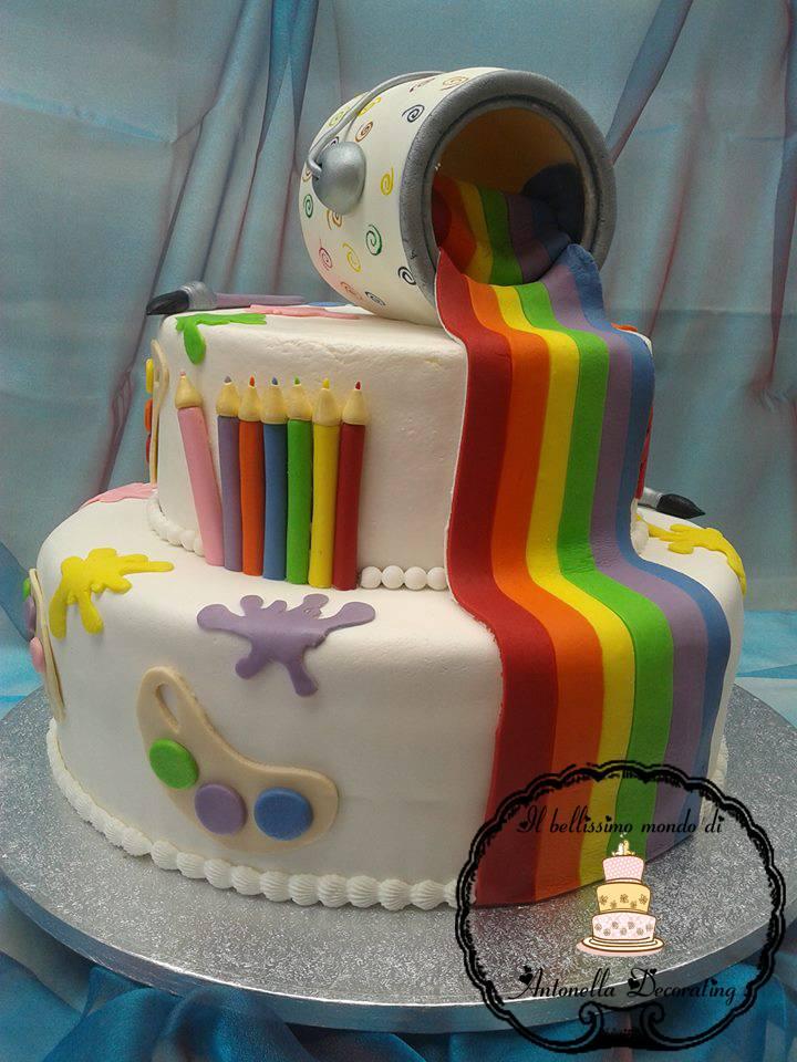 Il bellissimo mondo di antonella decorating rainbow cake for 3 piani di design da spiaggia