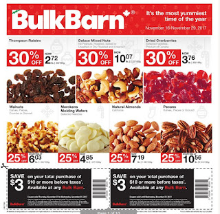 Bulk barn flyer this week November 16 - 29, 2017