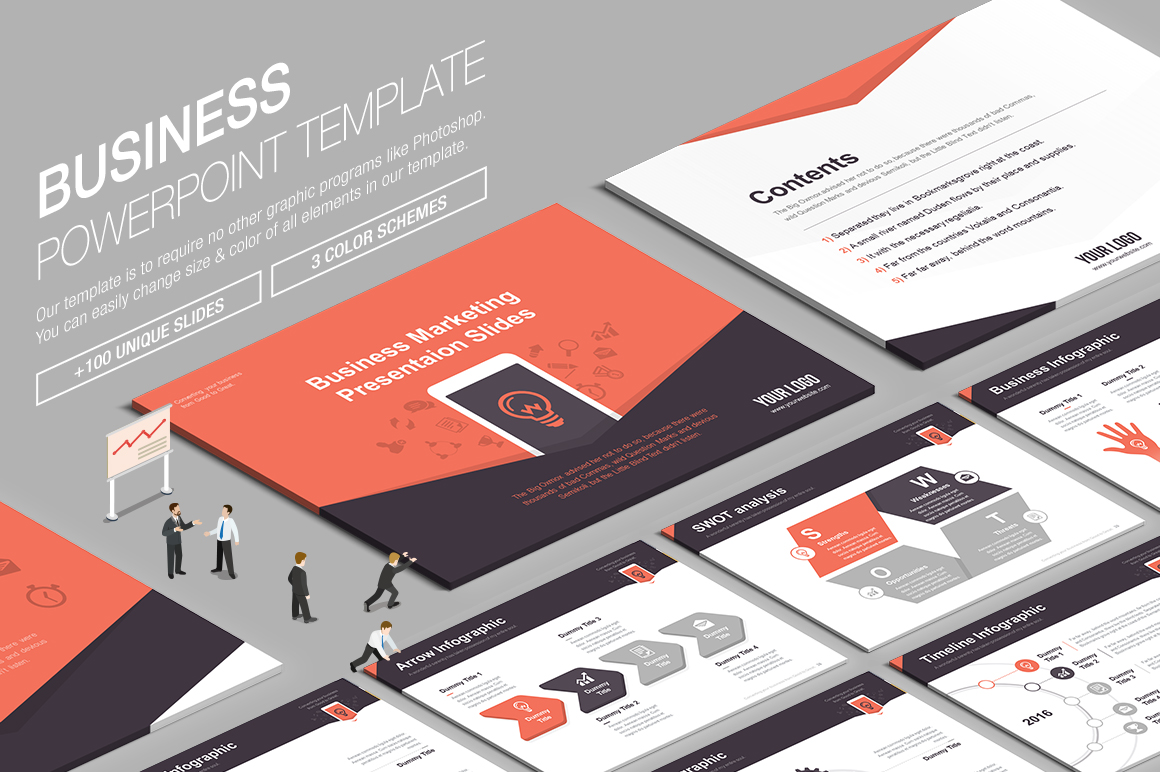 Awesome Presentation Templates August - Awesome logo presentation template scheme