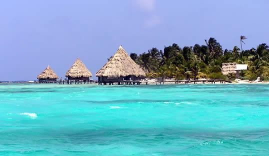 Beautiful Belize Huts Beach