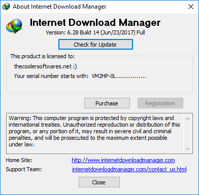 Internet Download Manager IDM 6.28 Build 17 Crack