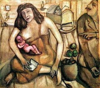 Марк Шагал. Святое семейство. 1909