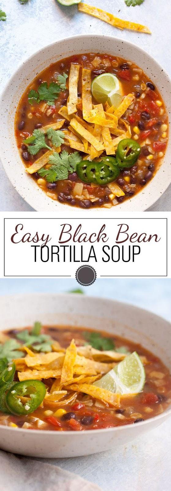 Easy Black Bean Tortilla Soup