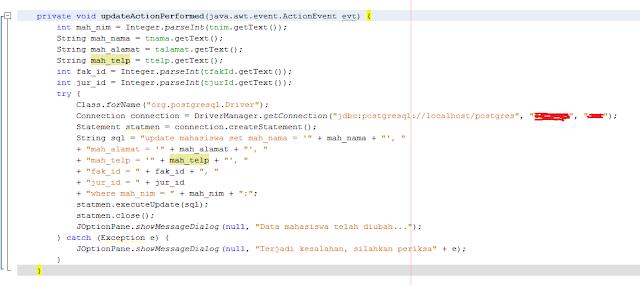 Kelas Informatika - Source Code Update Action Performed