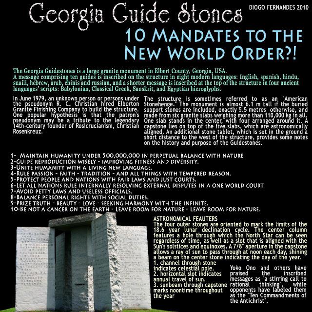 Georgia Guidestones American Stonehenge - Monumentul Din Georgia Si Noua Ordine Mondiala