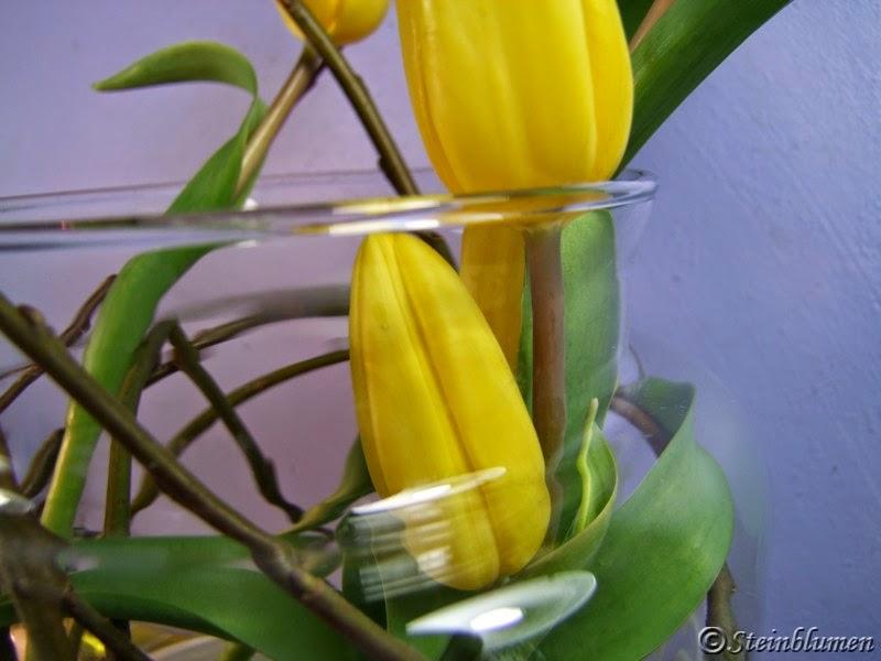 Gelbe tulpen deko im glas for Deko im glas