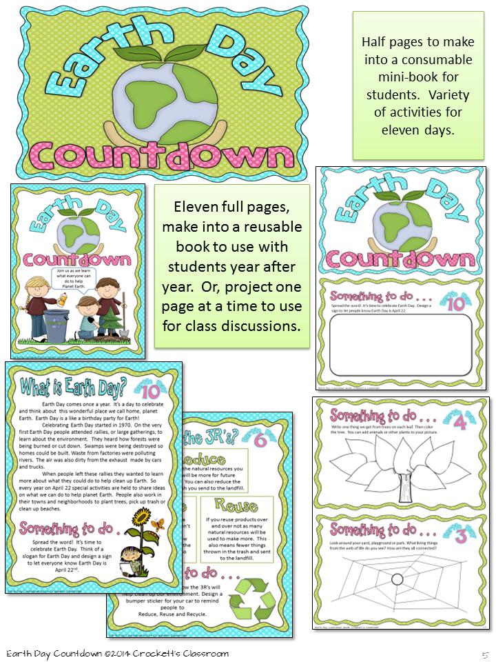 Crockett's Classroom, Countdown to Earth Day