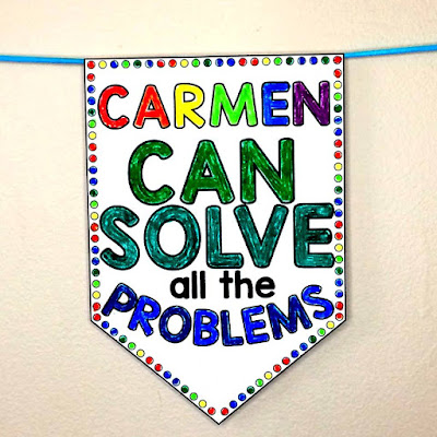 "Editable ""Math Boss"" Pennant to boost math confidence"