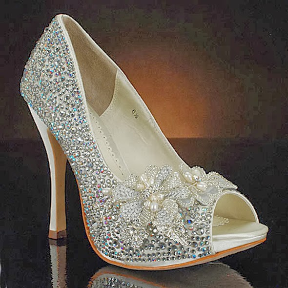 bridal footwear peep toes