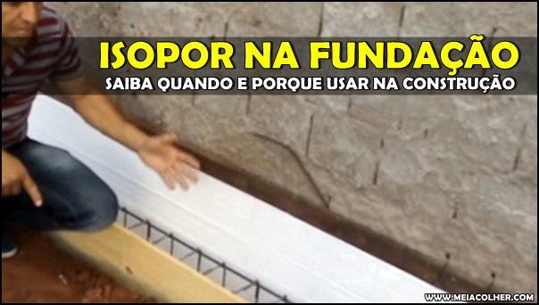 fundação com isopor