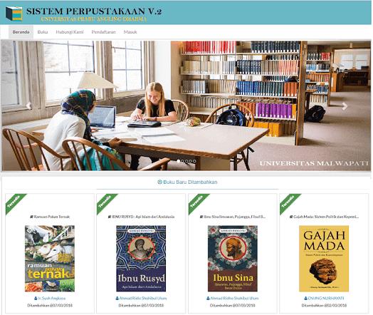 Sistem Informasi Perpustakaan Menggunakan Codeigniter