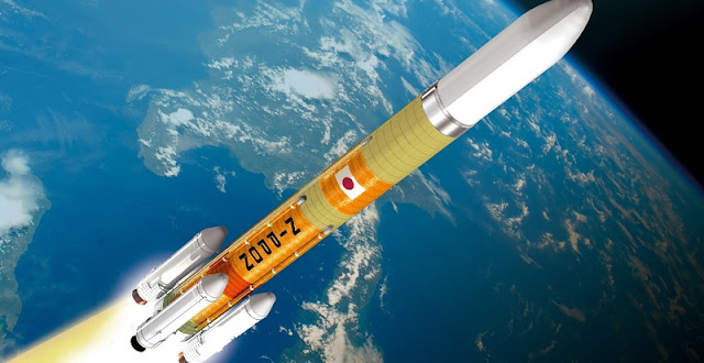 Artist's rendering of the H-3 rocket. Image Credit: JAXA