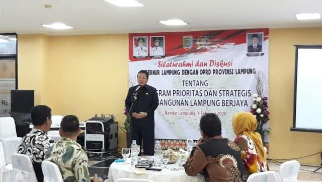 DPRD Provinsi Lampung dan Pemprov Bersinergi