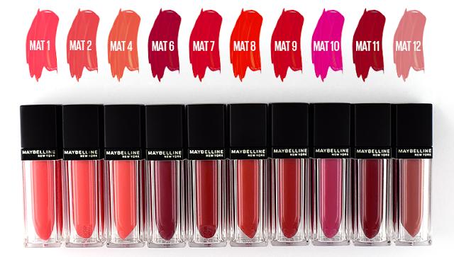 Maybelline Vivid Matte Liquid Mat 1 & Mat 4: Review & Swatches