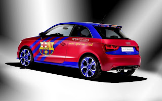 Audi A1 Car FC Barcelone Colors Modified HD Desktop Wallpaper