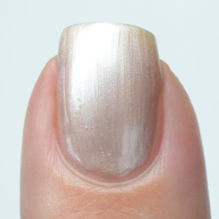 frosty champagne nail polish