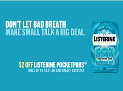 Listerine PocketPacks $2 Off Coupon