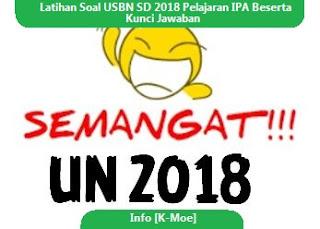 Latihan Soal USBN SD 2018 Pelajaran IPA, Kunci Jawaban Soal IPA SD