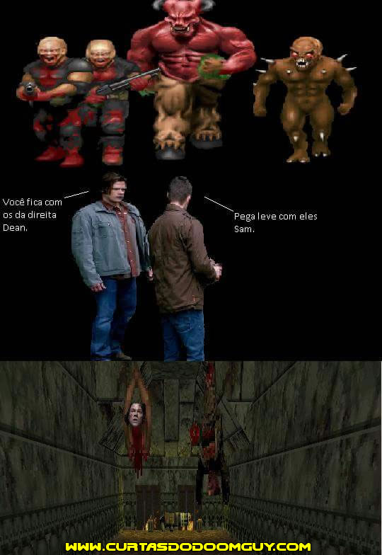 Sam e Dean vs. demônios do Doom
