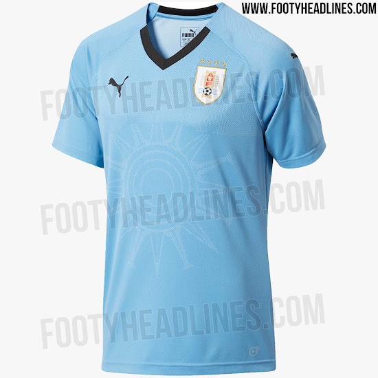 878095dfe This image shows the Uruguay home kit for the 2018 World Cup Russia.