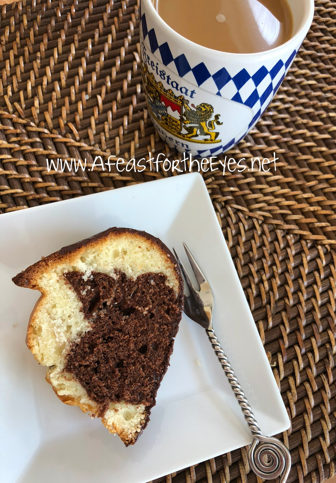 A Feast for the Eyes: German Marble Cake (Marmor Kuchen)