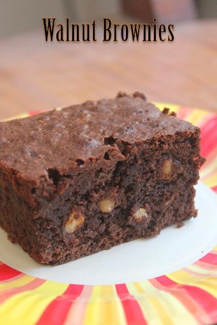 ... TUMMY: Fudgy Walnut Brownie Recipe - Chocolate Walnut Brownies Recipe