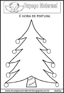 Desenho pinheiro natal colorir