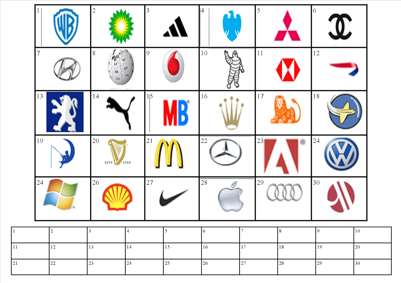 Terrible image with regard to logo quiz printable