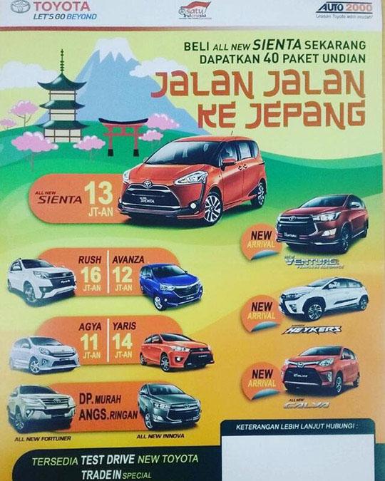 Promo Toyota Pulo Gadung Jaktim