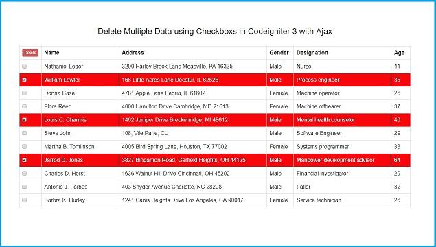 How to Delete Multiple Records using Checkbox in Codeigniter