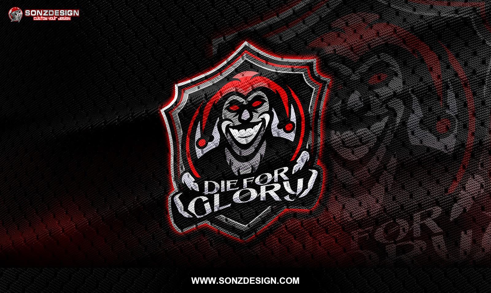 team logo die for glory team sonzdesign