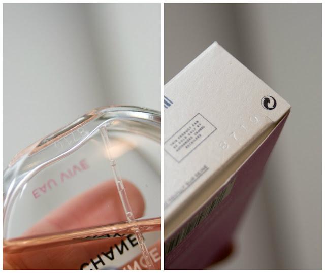 cztery cyfry, kod autentyczności perfumy Chanel