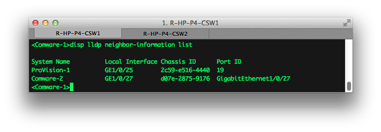 Wired IT: Using LLDP (CDP) with HP Comware and Provision