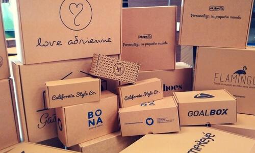 cajas con papel kraft