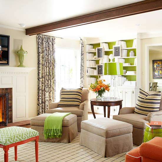 Modern Living Room Decorating Ideas: 2013 Neutral Living Room Decorating Ideas From BHG