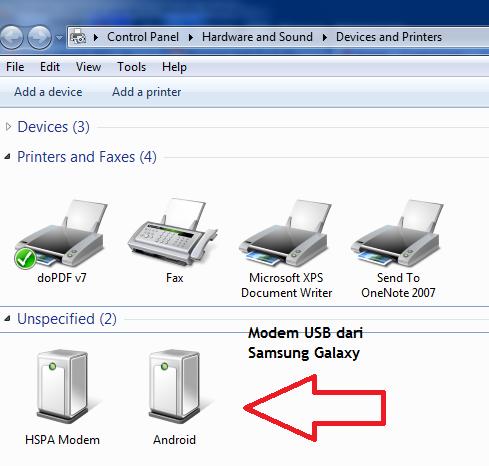 Cara Membuat Samsung Galaxy Sebagai Modem USB
