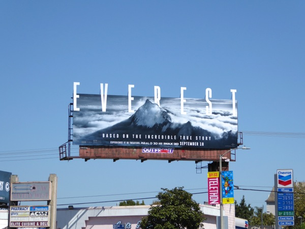 Everest movie special extension billboard